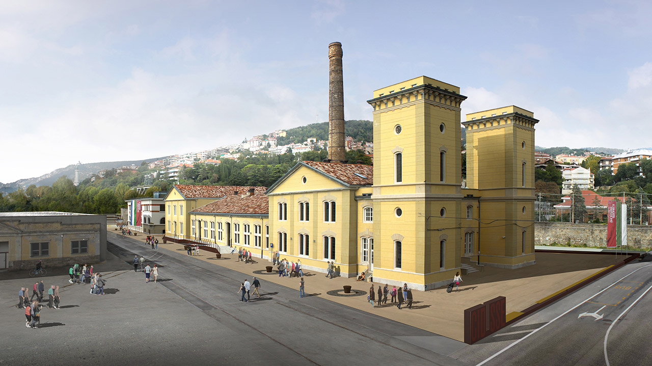 Outdoor spaces Port Museum in Trieste : map studio